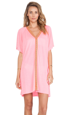 Pitusa Inca Mini Abaya in Hot Pink