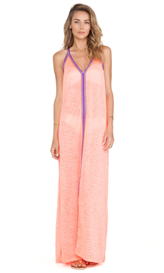 Pitusa Inca Sun Dress in Coral