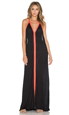 Pitusa Inca Sun Dress in Black & Fuchsia