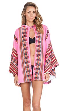 Pitusa Inca Towel Cape in Hot Pink