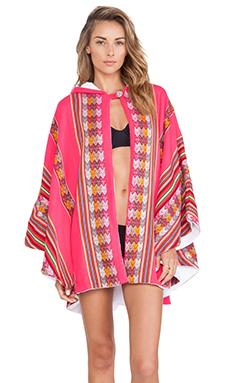 Pitusa Inca Towel Cape in Raspberry