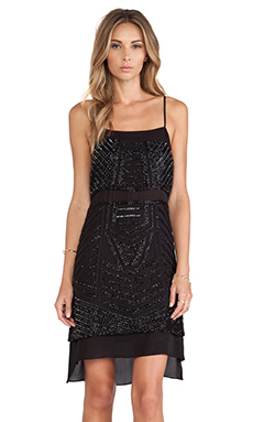 Parker Phillipa Sequin Dress in Black
