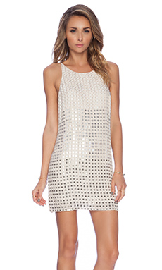 Parker Monaco Embellished Dress in Nude