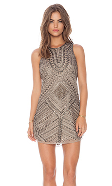 Parker Allegra Dress in Taupe