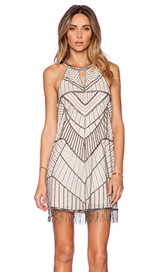 Parker Sansa Embellished Dress in Nude