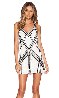 Parker Benny Sequin Dress in White