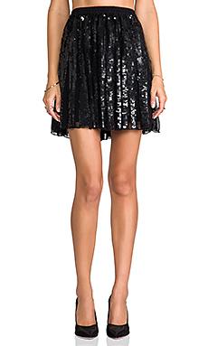 Parker Sequin Delphine Skirt in Black