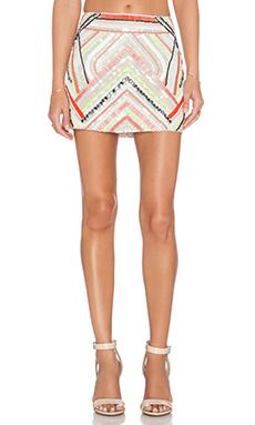 Parker Corsica Sequin Skirt in Nude