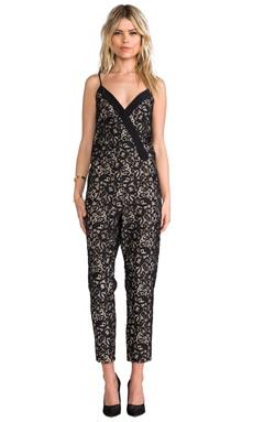 Parker Sienna Lace Jumpsuit in Black