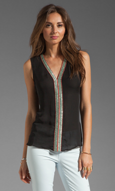 Parker Nahla Jewel Top in Black