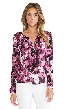 Parker Marissa Blouse in Rosewood Floral Haze