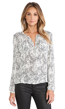 Parker Marissa Blouse in Silver Avalanche