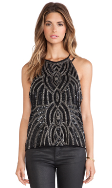 Parker Zane Sequin Tank in Black