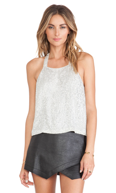 Parker Justina Sequin Tank in Silver