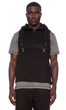 Publish Oaks Anorak Vest in Black