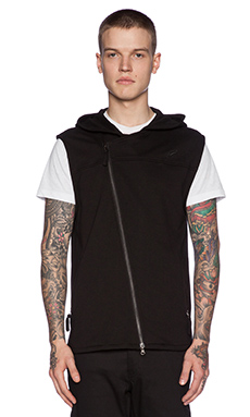 Publish Von Hooded Vest in Black