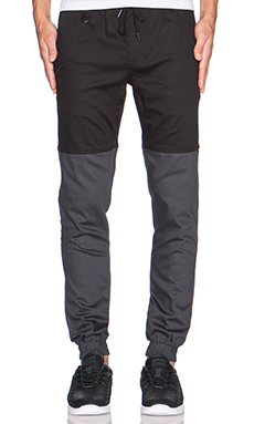 Publish Two-Tone Jogger in Black Charcoal