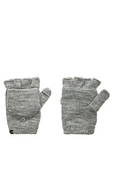 Plush Fleece Lined Fingerless Texting Mittens in Heather Grey