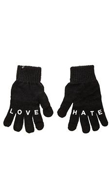 Plush Love/Hate Smartphone Glove in Black
