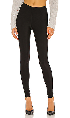 Plush Matte Spandex Fleece Lined Legging in Black
