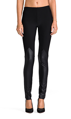 Plush Spartan Legging in Black/Liquid Black