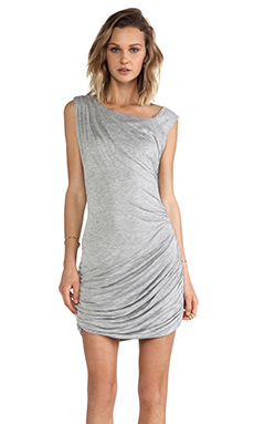 primary Shirred Dress in Grey