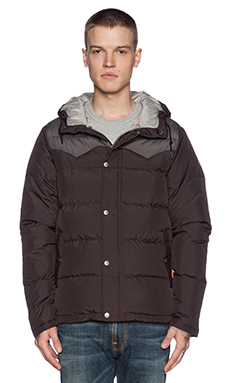 Poler Guide Down Jacket in Black/Pigeon
