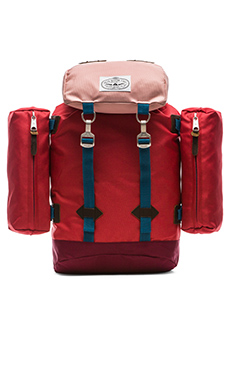 Poler Rucksack in Red/Burgundy/Rose