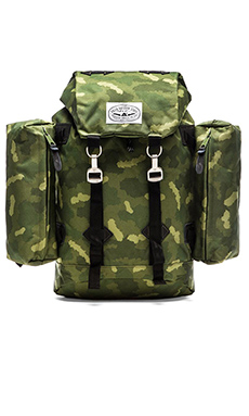 Poler Rucksack Backpack in Green Camo