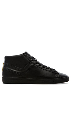 Pony Topstar Hi Leather Lux in Black Black