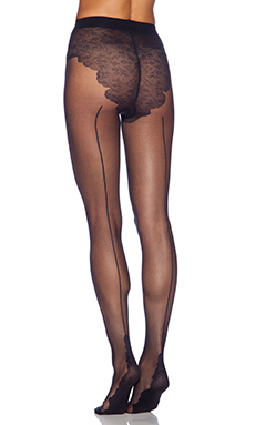 Pretty Polly Backseam Tights in Black