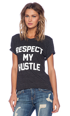 Private Party Respect My Hustle Tee in Black