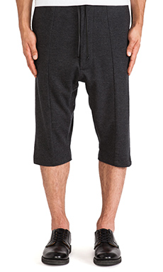 Public School Hairy Felted Wool Short in Charcoal