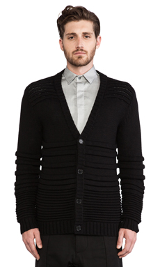Public School Knit Cardigan in Black