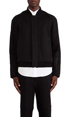 Public School Double Face Canvas Bomber Jacket in Black
