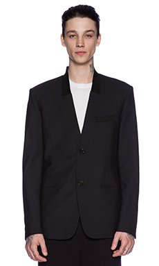 Public School Single Breasted Jacket in Black