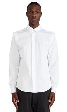 Public School Poplin Shirt in White