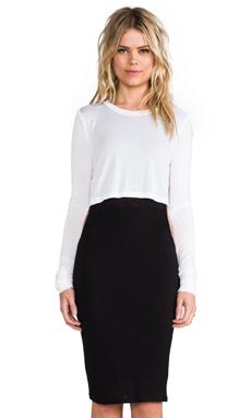 Pencey Standard Overlay Dress in Black & White