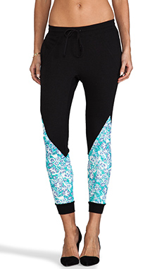Pencey Standard Combo Fleece Pant in Floral