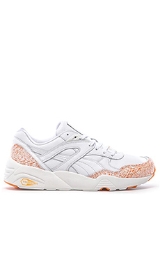 Puma Select R698 Snow Splatter en White Fluo Orange