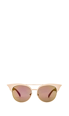 Quay Zig Sunglasses in Gold