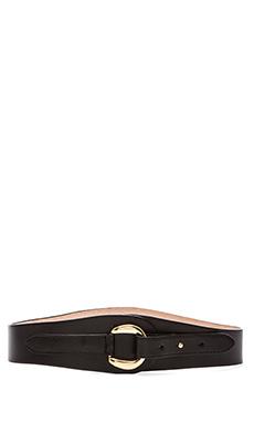 Rachel Pally Leather Belt in Black
