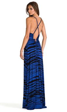 Rachel Pally Thora Dress in Cobalt Painted Stripe