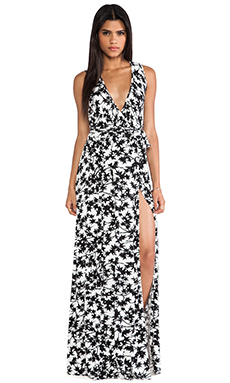 Rachel Pally Crawford Wrap Maxi Dress in Black Maple