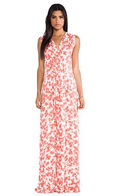 Rachel Pally Long Sleeveless Caftan Dress in Persimmon Maple
