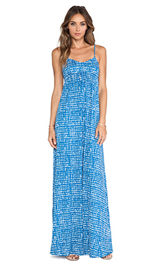 Rachel Pally Crane Maxi Dress in Mineral Gingham