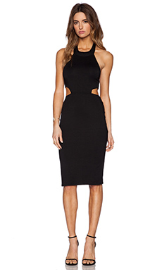 Rachel Pally x REVOLVE Cut Out Halter Midi Dress in Black