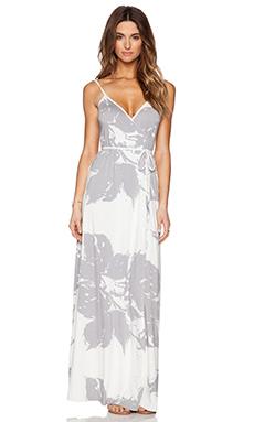 Rachel Pally Wrap Dress in Grey Floral