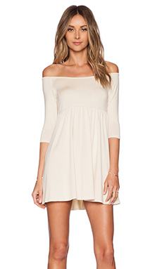 Rachel Pally x REVOLVE Off The Shoulder Empire Dress in Cream