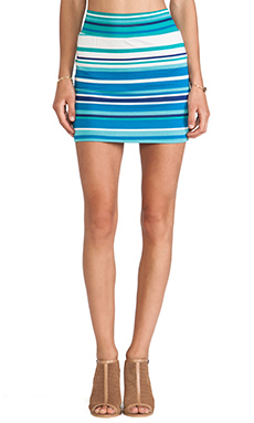 Rachel Pally Bandage Mini Skirt in Sea Stripe